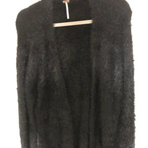Free People black fuzzy sweater